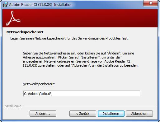 Adobe Setup Schritt 2