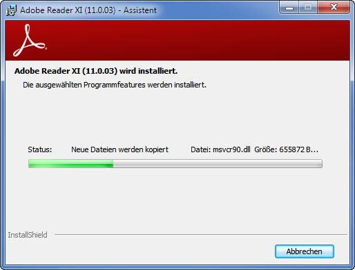 Adobe Setup Schritt 3