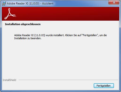 Adobe Setup Schritt 4