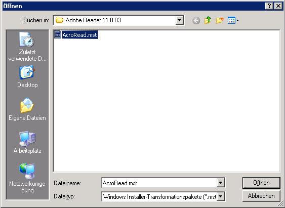 MST-Datei einbinden