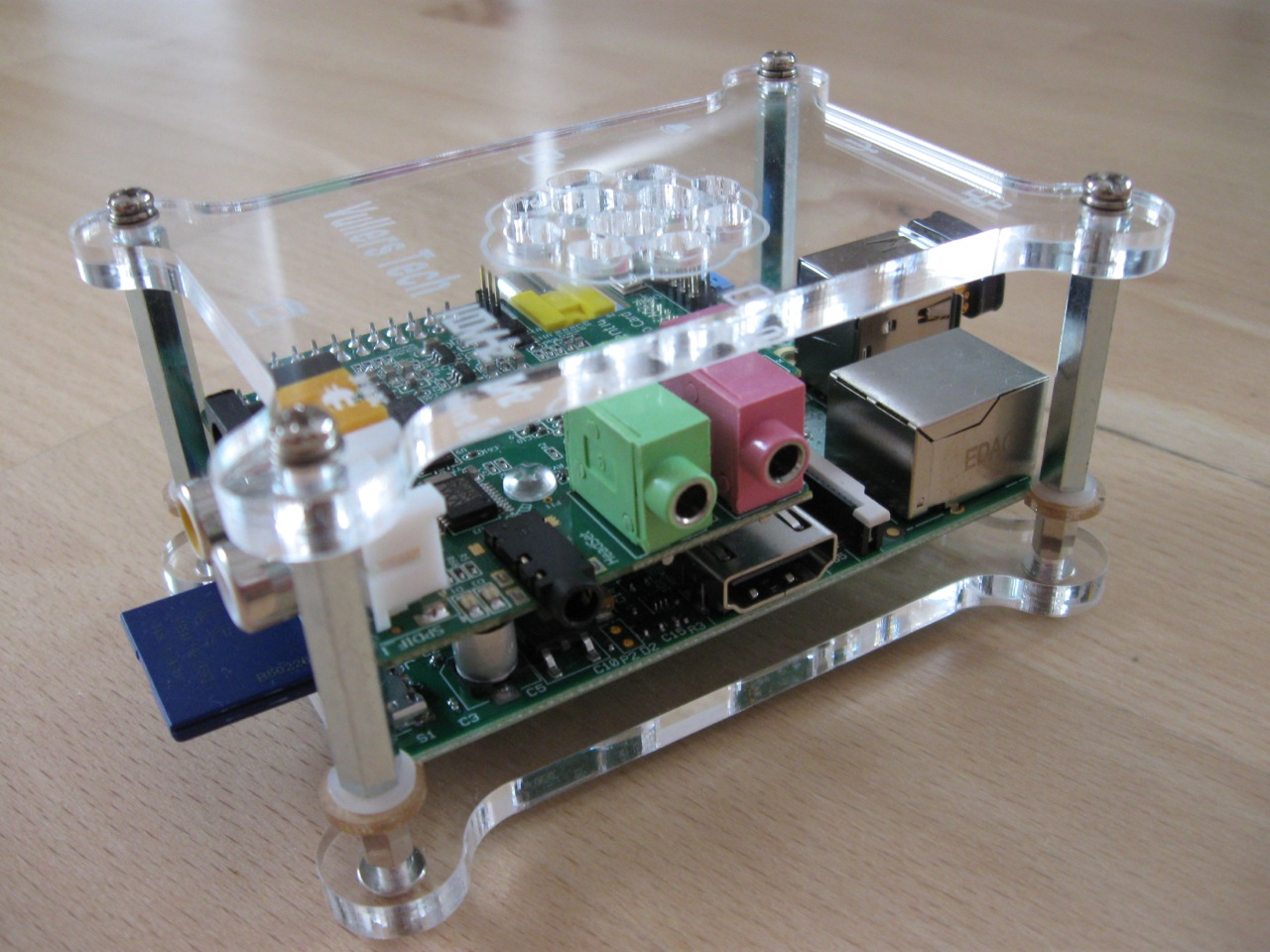 Raspberry Pi mit Wolfson Audio Card